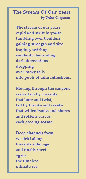 poem, the stream of our years